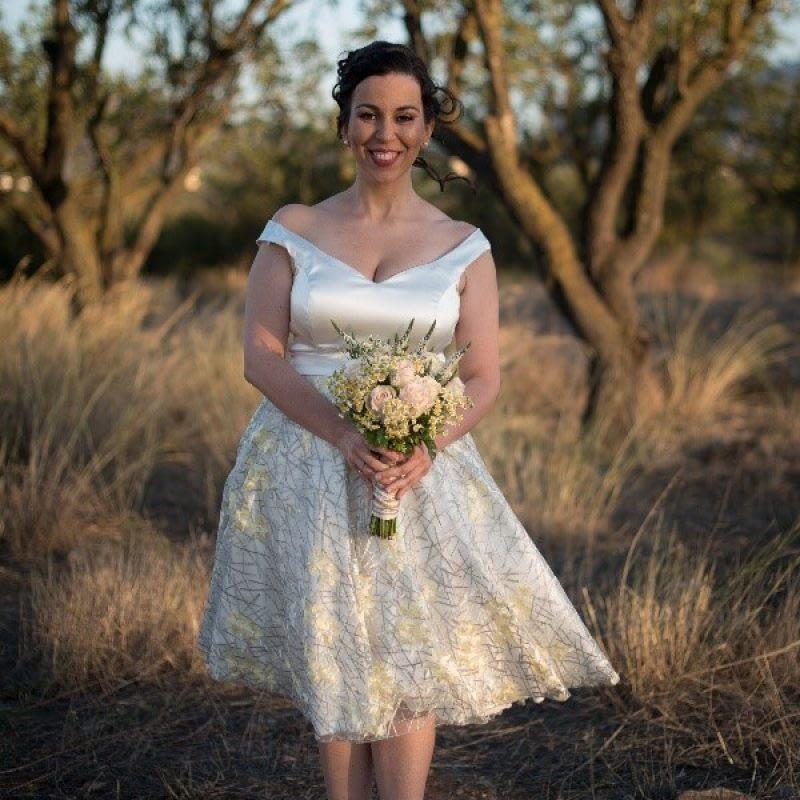 Vintage trouwjurk wit