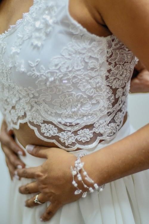 bohemian trouwjurk bruidsjurk wit